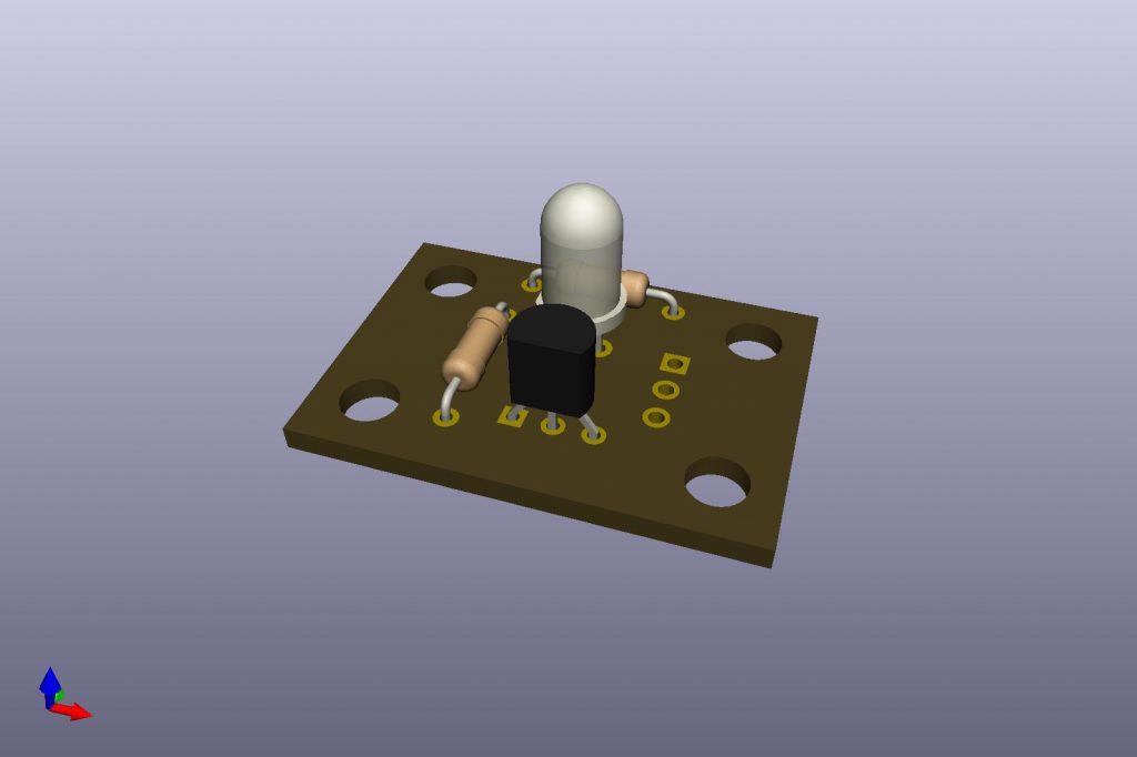 PCB simulated